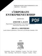 کتاب انگلیسی Corporate Entrepreneurship